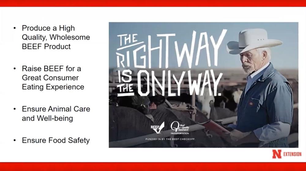 beef quality assurance webinar flyer