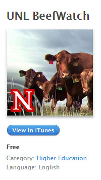 podcast iTunes image of BeefWatch