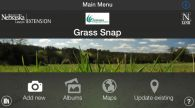screen capture image of GrassSnap mobile app