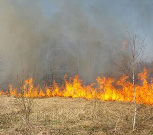 photo of fire in Nebraska Sandhills pasture