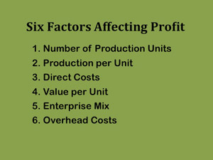 factors affect profitability Important factors affecting cost of gain and profitability this study utilized closeout data on 6,696 pens of steers at two western kansas custom feedyards placed on feed.