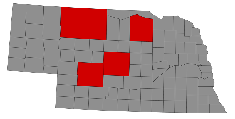Map of top cow counties in the nation